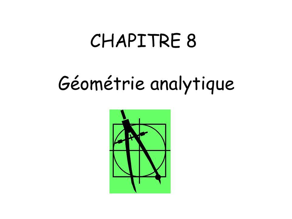 CHAPITRE 8 Géométrie analytique