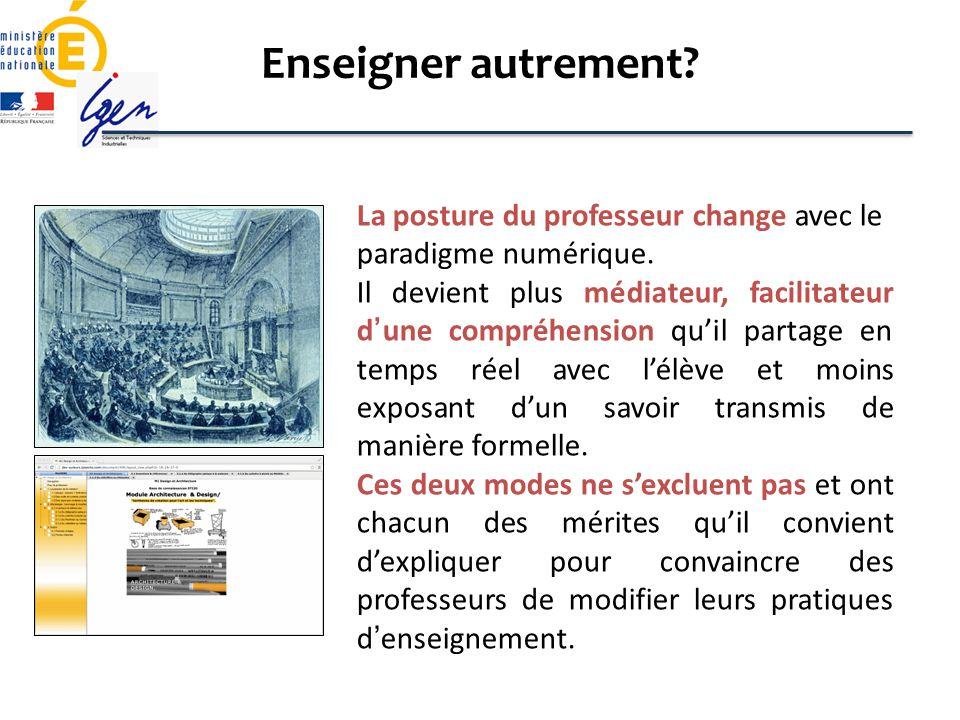 Enseigner autrement La posture du professeur change avec le paradigme numérique.