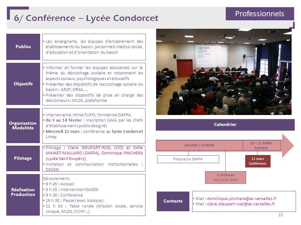 6/ Conférence – Lycée Condorcet