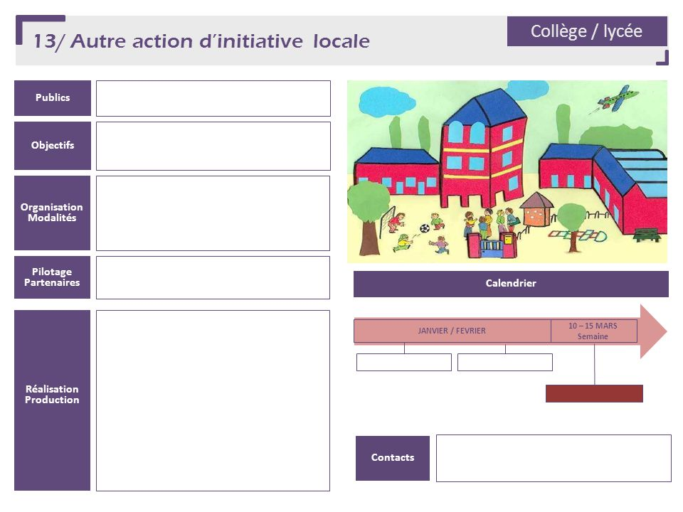13/ Autre action d'initiative locale