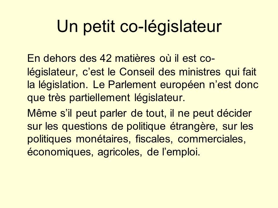 Un petit co-législateur