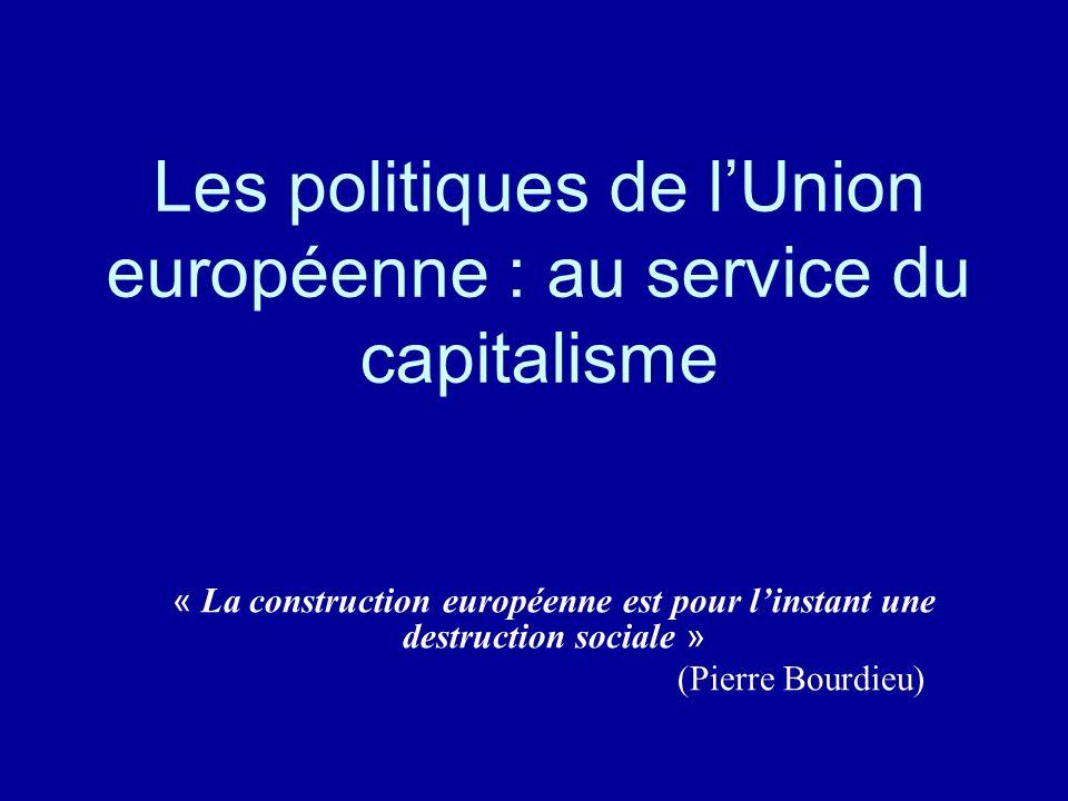 Les politiques de l'Union européenne : au service du capitalisme