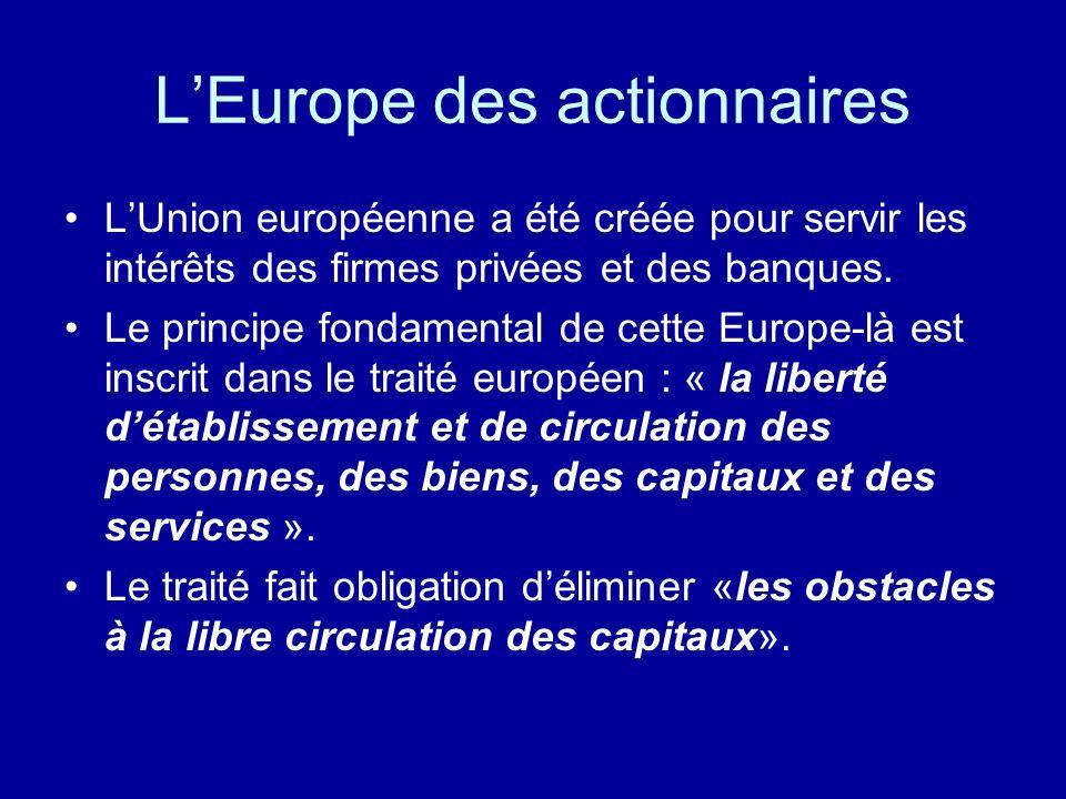 L'Europe des actionnaires