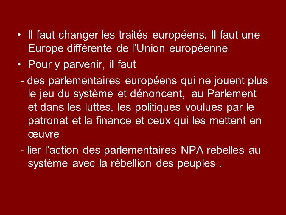 Il faut changer les traités européens