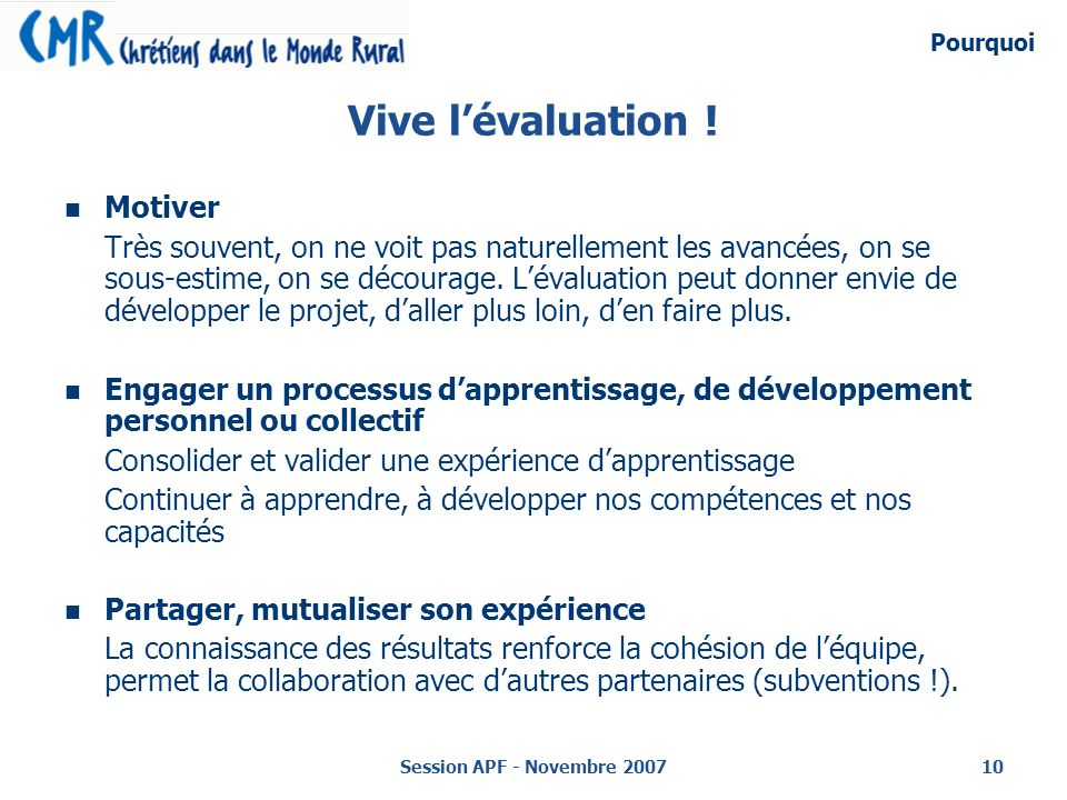Vive l'évaluation ! Motiver
