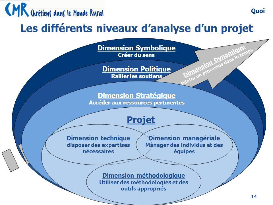 Les différents niveaux d'analyse d'un projet