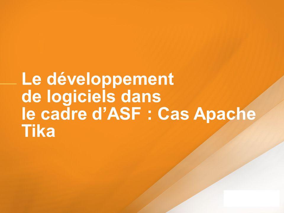 Le développement de logiciels dans le cadre d'ASF : Cas Apache Tika