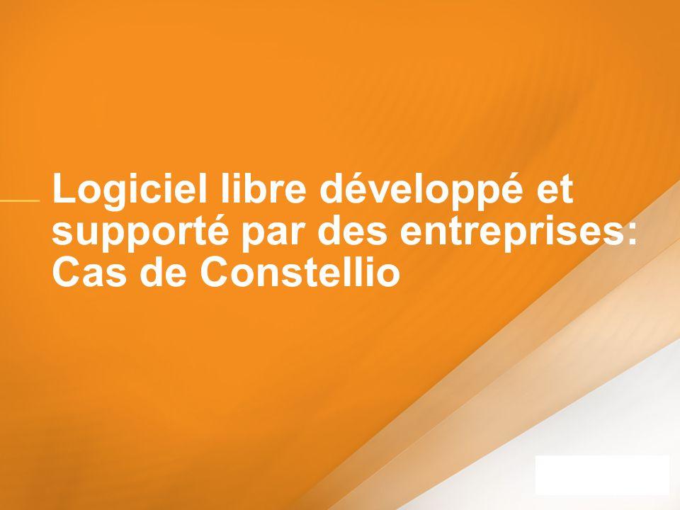 Logiciel libre développé et supporté par des entreprises: