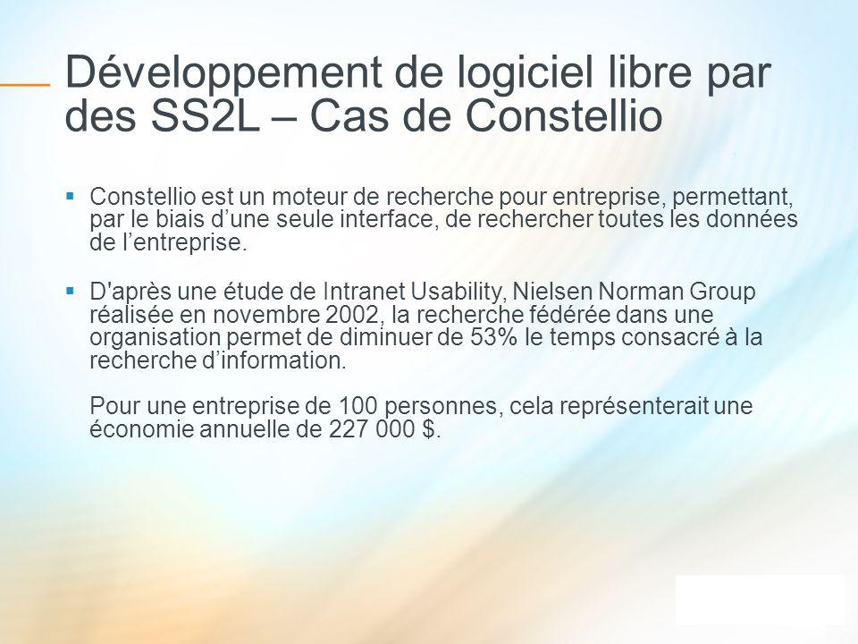 Développement de logiciel libre par des SS2L – Cas de Constellio