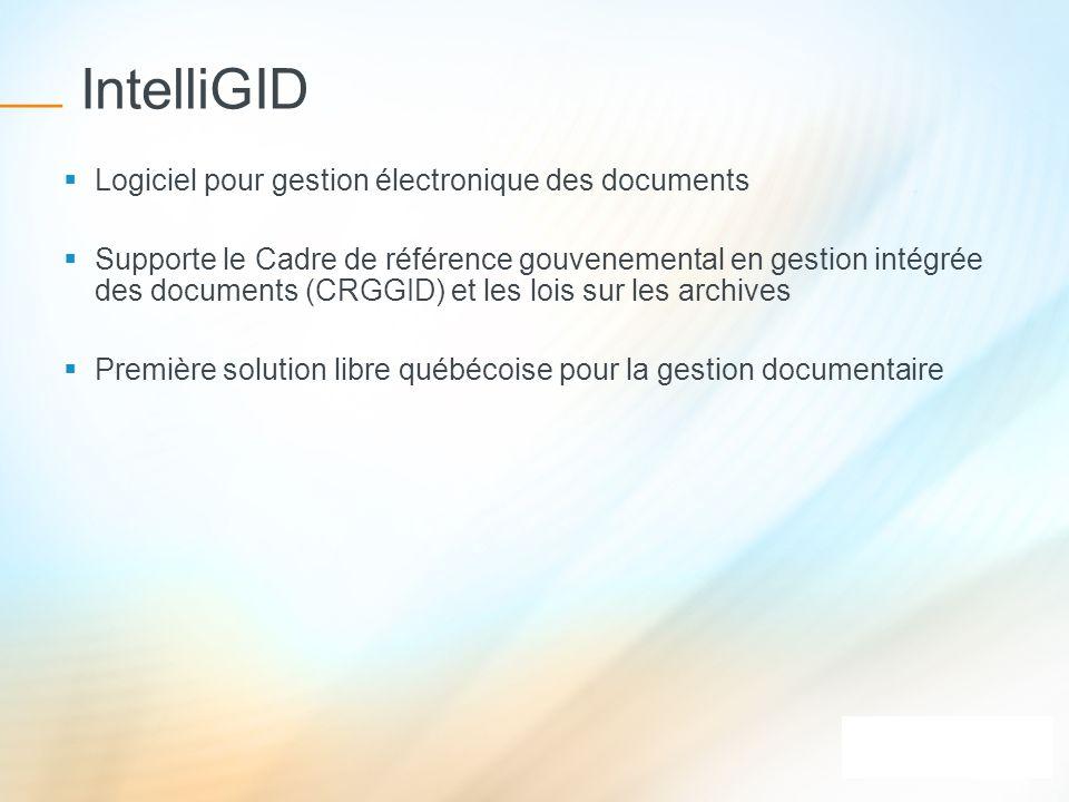IntelliGID Logiciel pour gestion électronique des documents
