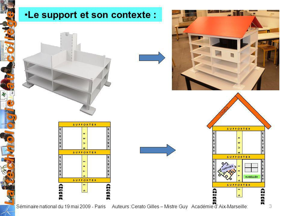 Le support et son contexte :
