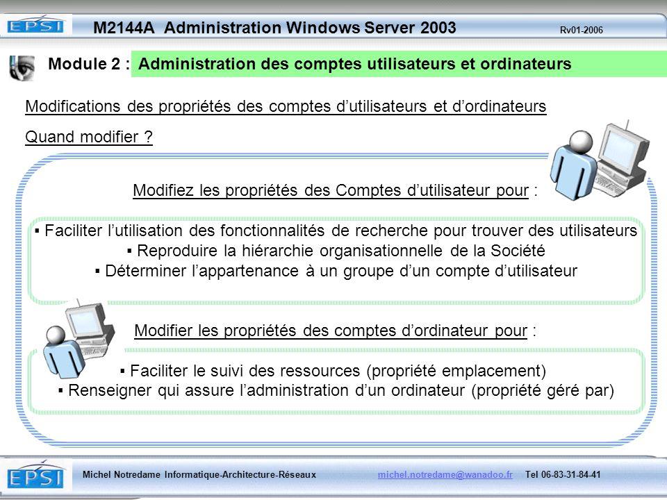 Administration des comptes utilisateurs et ordinateurs