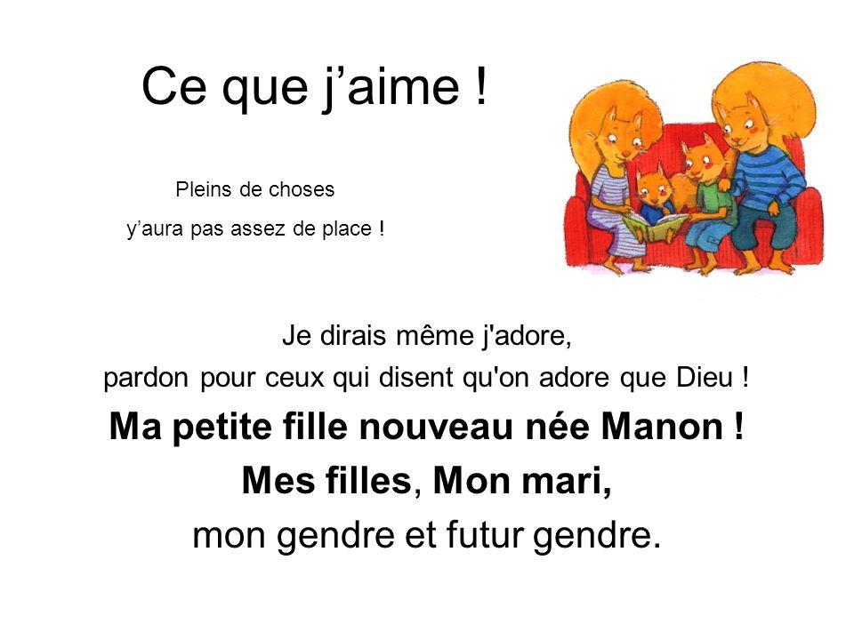 Ma petite fille nouveau née Manon !