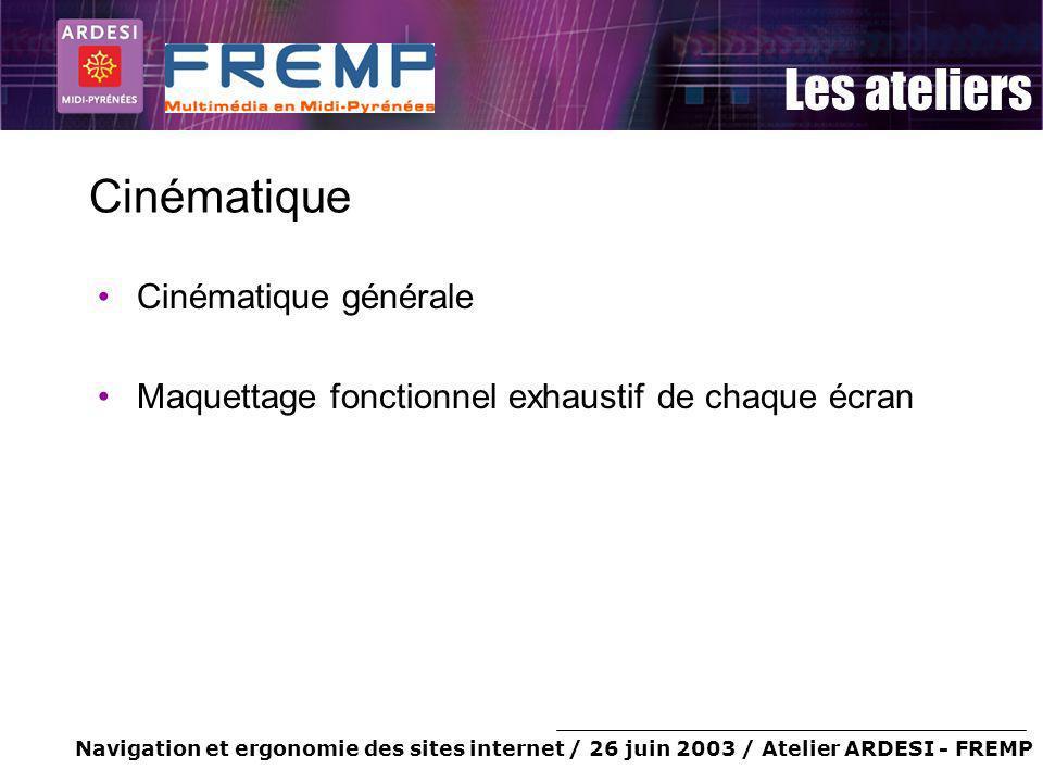 Cinématique Cinématique générale