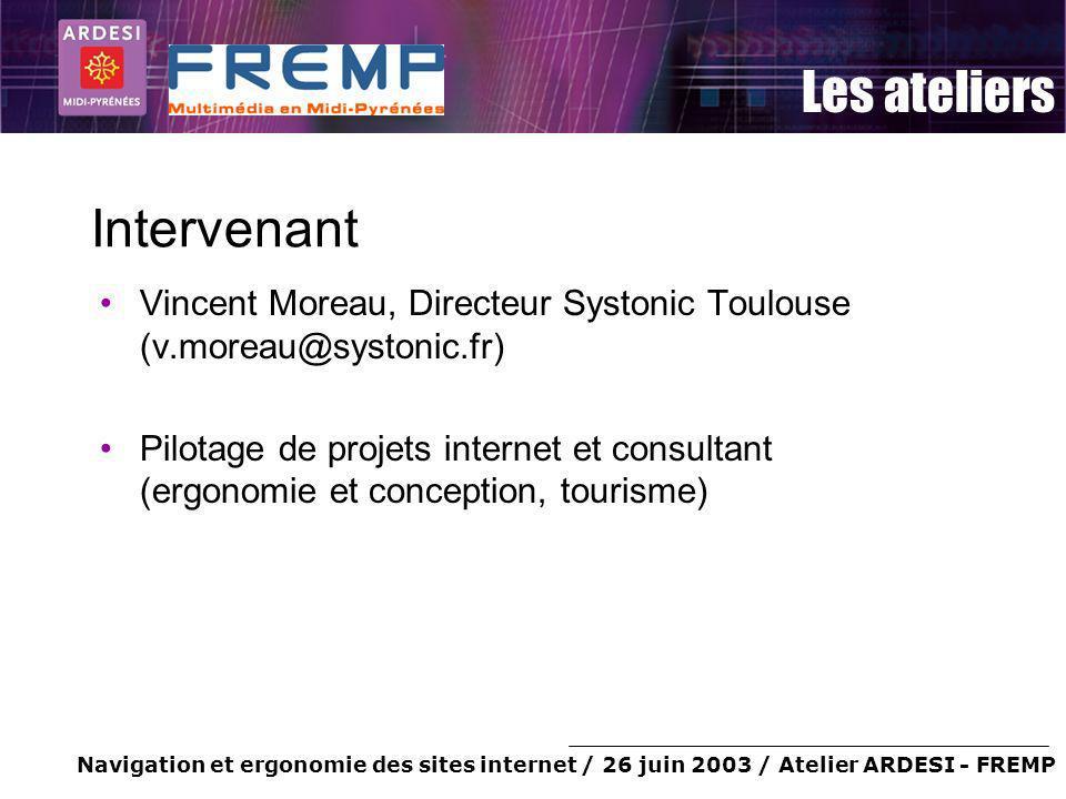 Intervenant Vincent Moreau, Directeur Systonic Toulouse (v.moreau@systonic.fr)