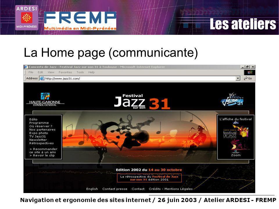 La Home page (communicante)