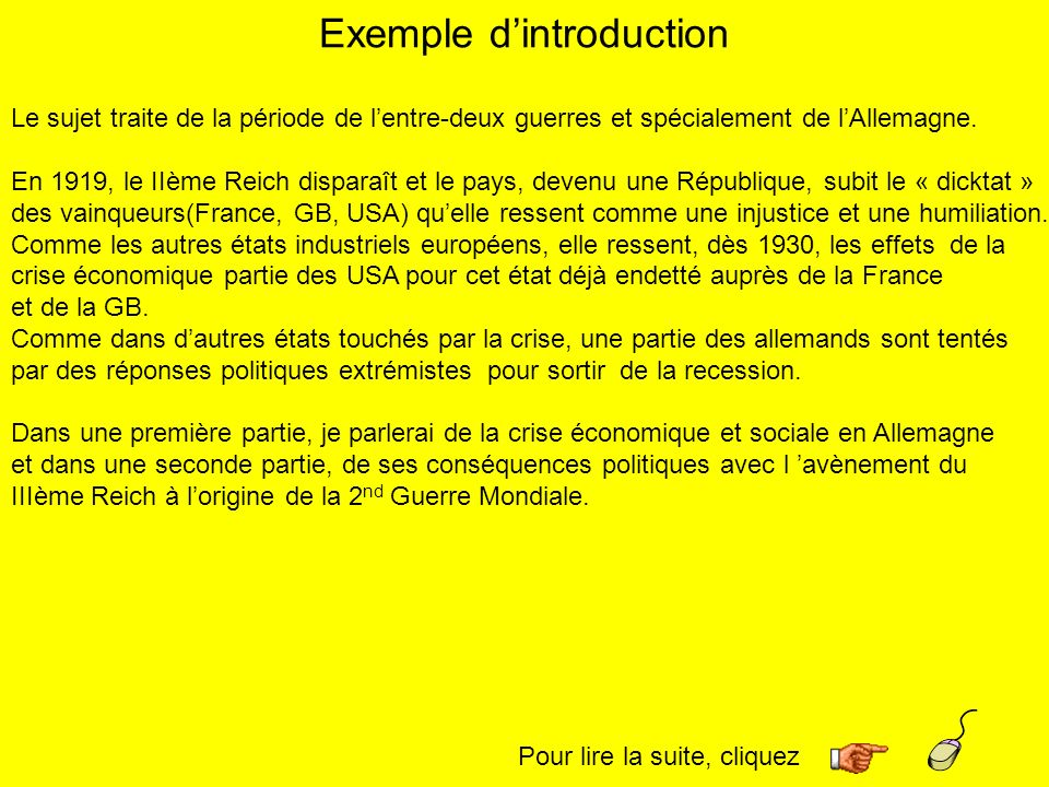 Exemple d'introduction