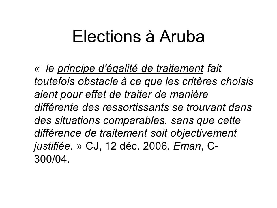 Elections à Aruba