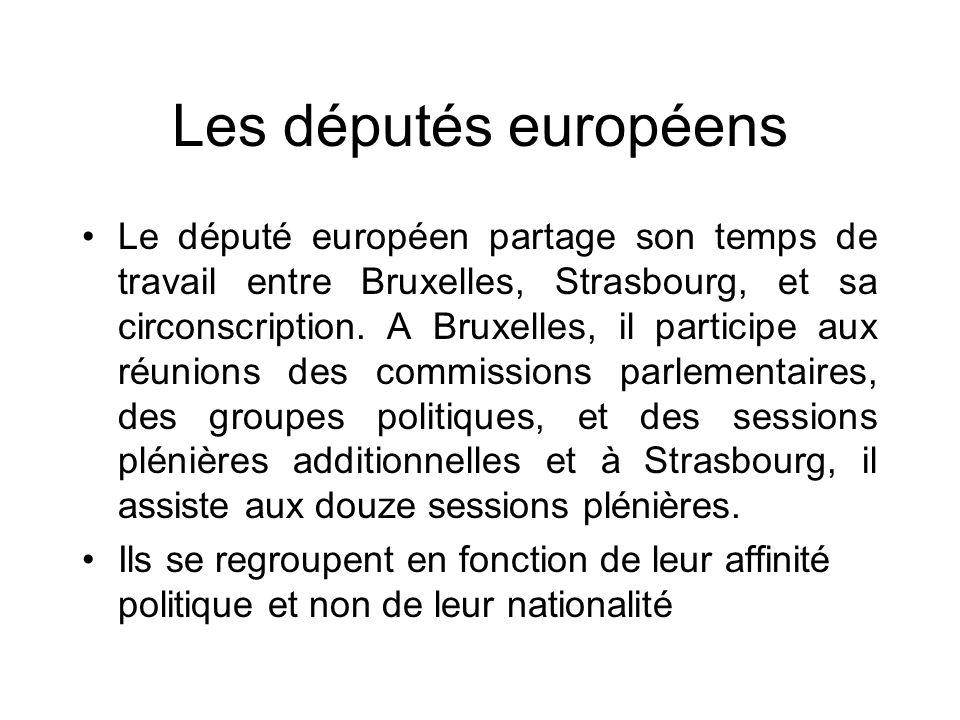 Les députés européens