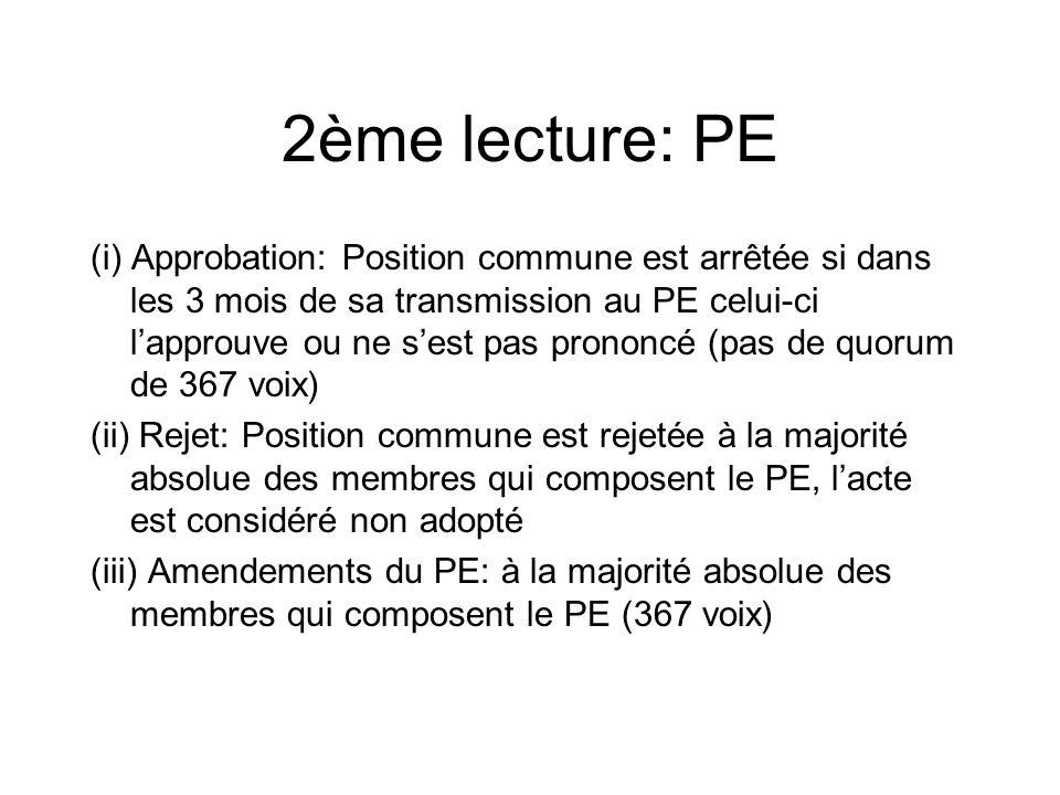 2ème lecture: PE