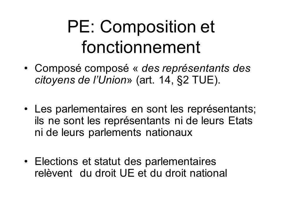PE: Composition et fonctionnement