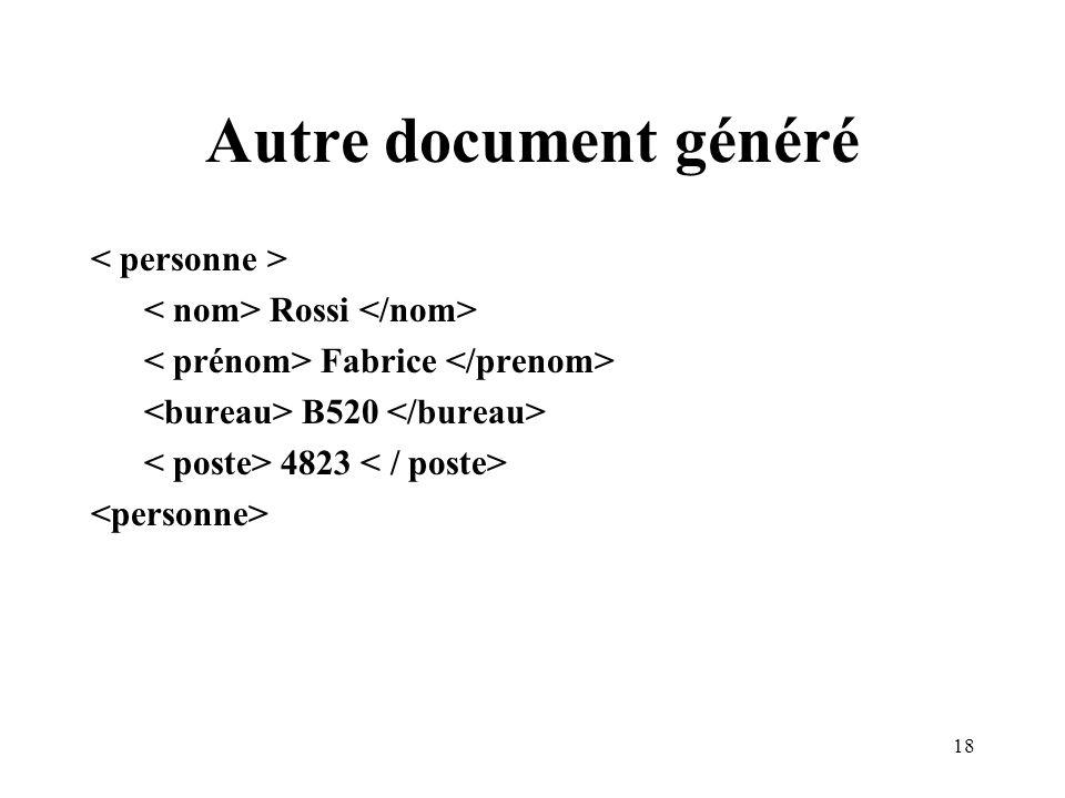 Autre document généré < personne >