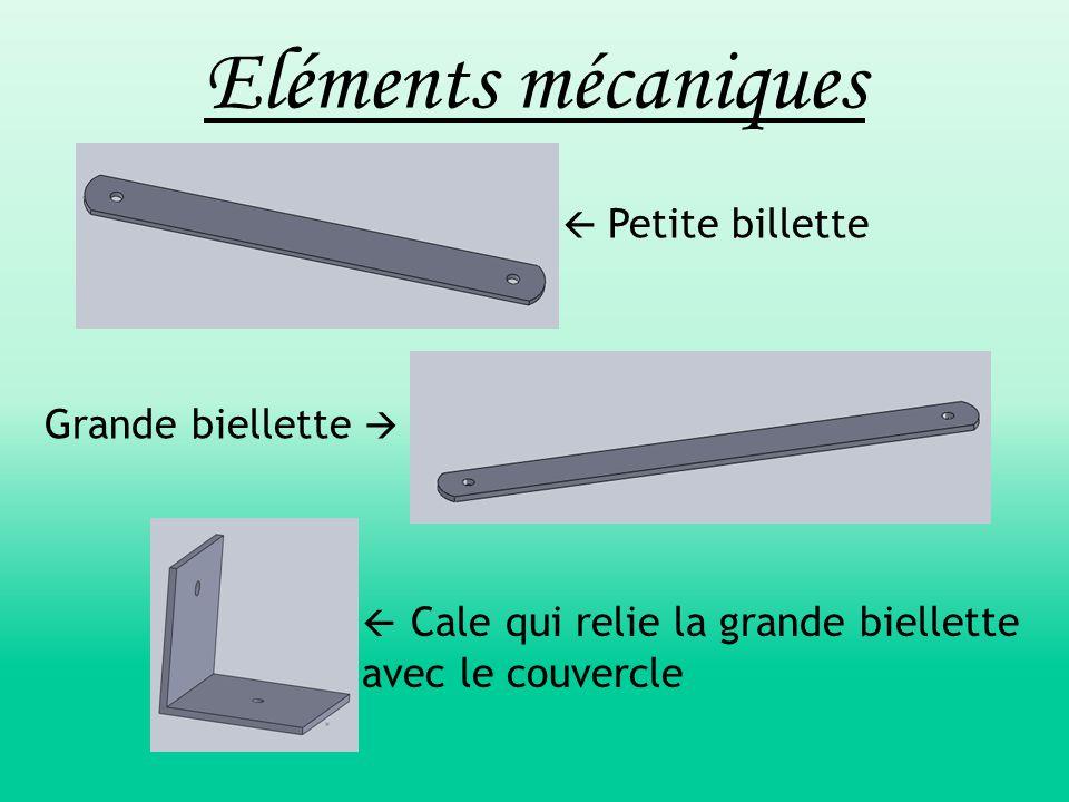Eléments mécaniques Grande biellette   Petite billette