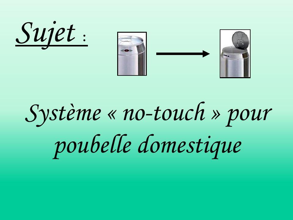 Système « no-touch » pour poubelle domestique