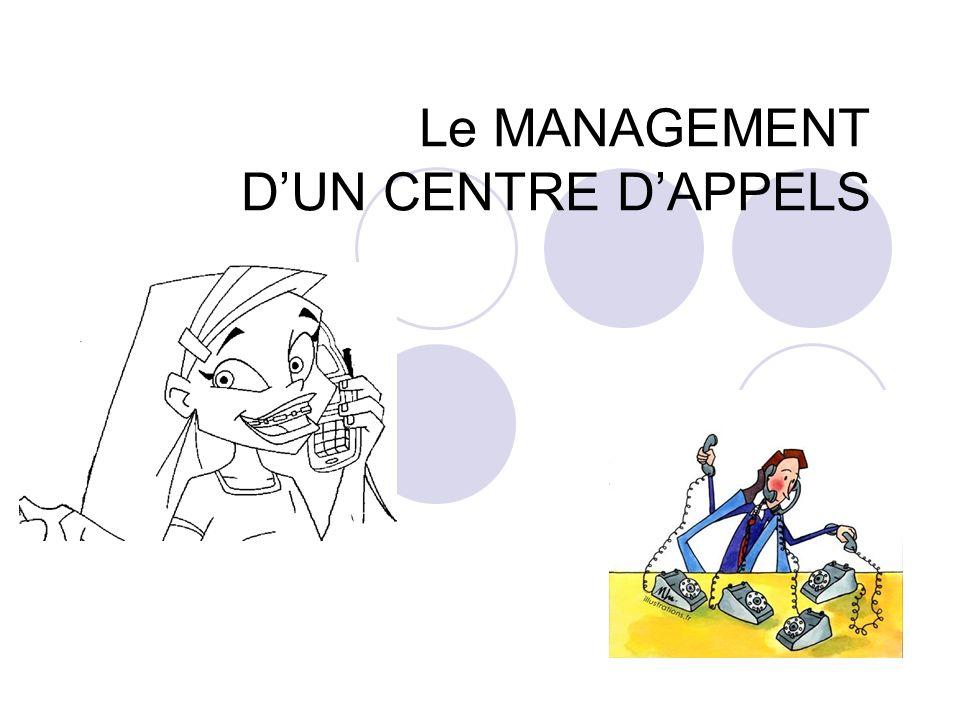 Le MANAGEMENT D'UN CENTRE D'APPELS