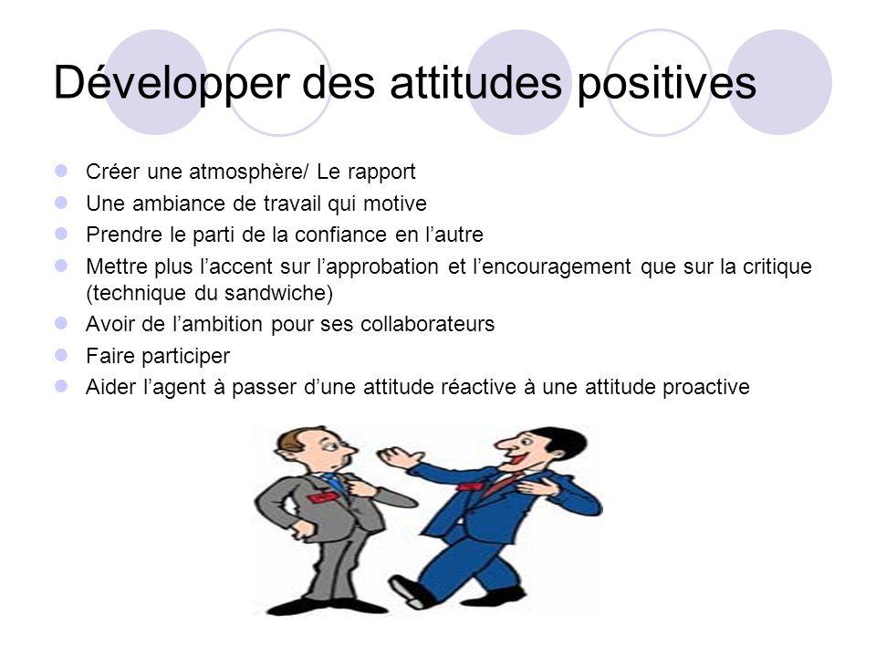Développer des attitudes positives