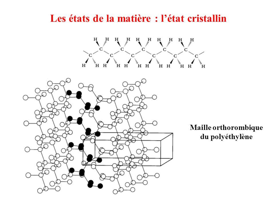 Les états de la matière : l'état cristallin