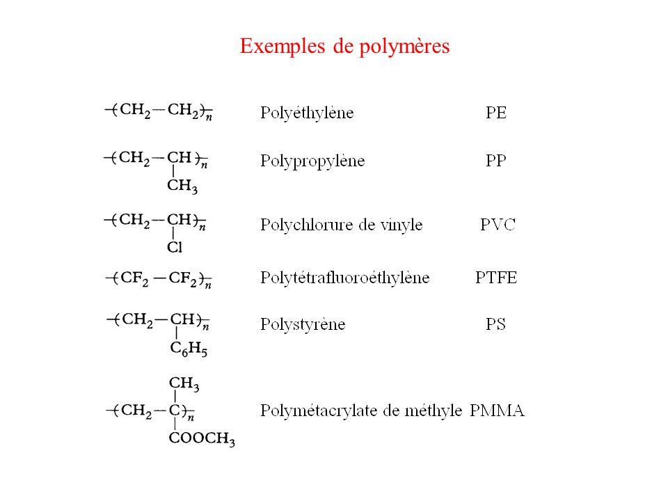Exemples de polymères
