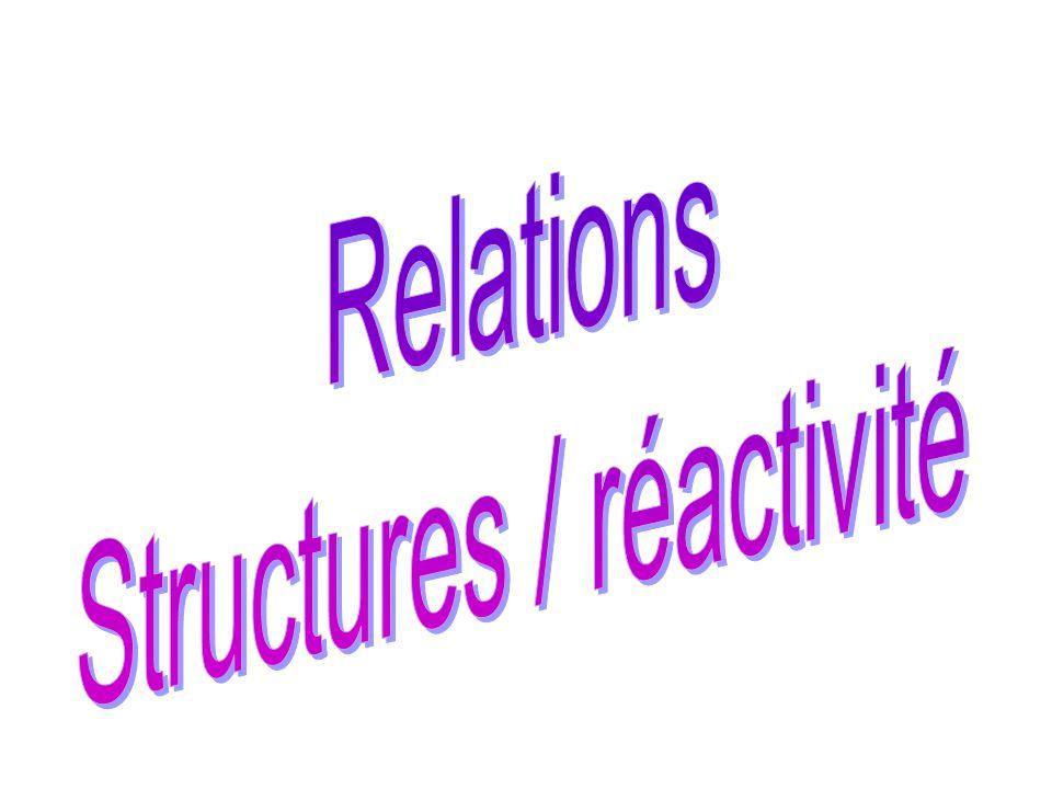 Structures / réactivité
