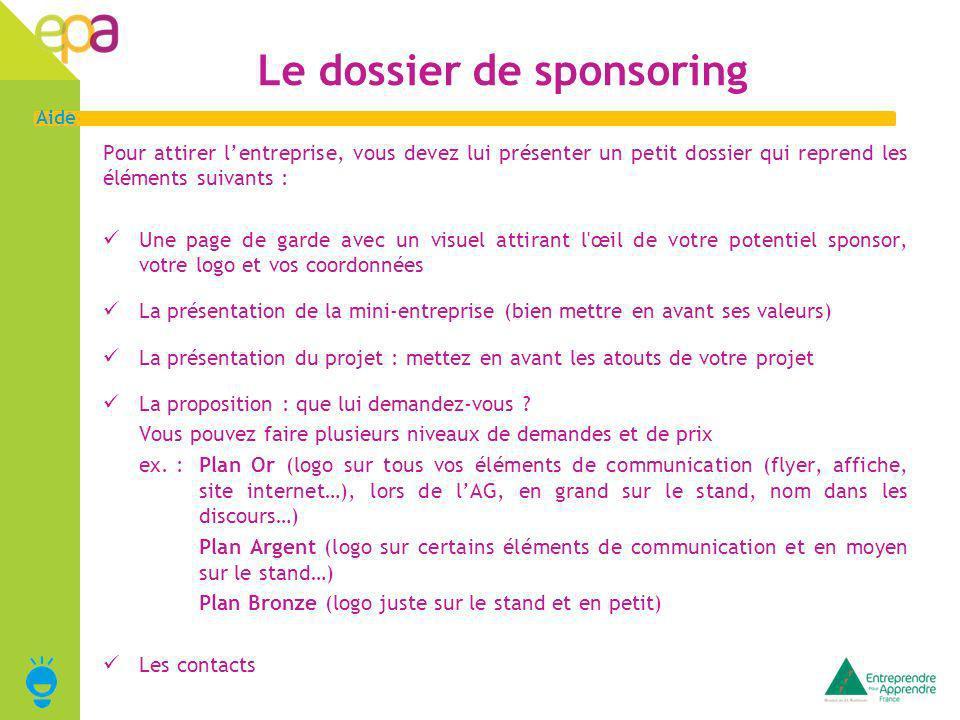 Le dossier de sponsoring
