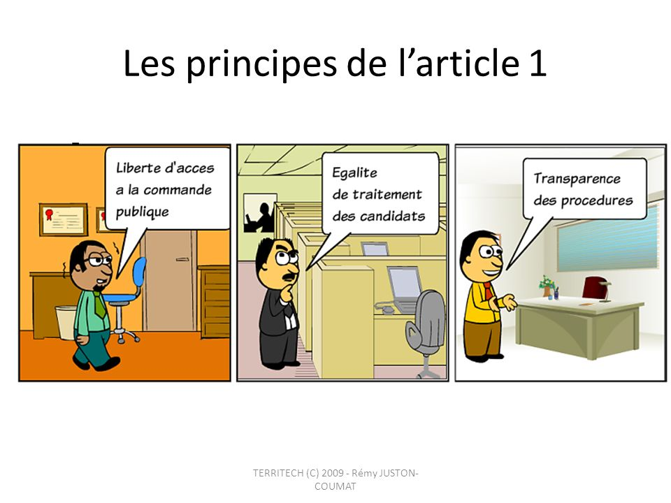 Les principes de l'article 1