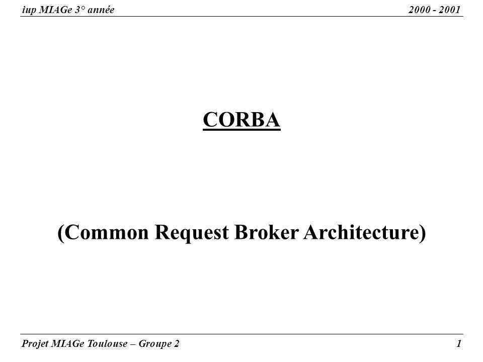 CORBA (Common Request Broker Architecture)