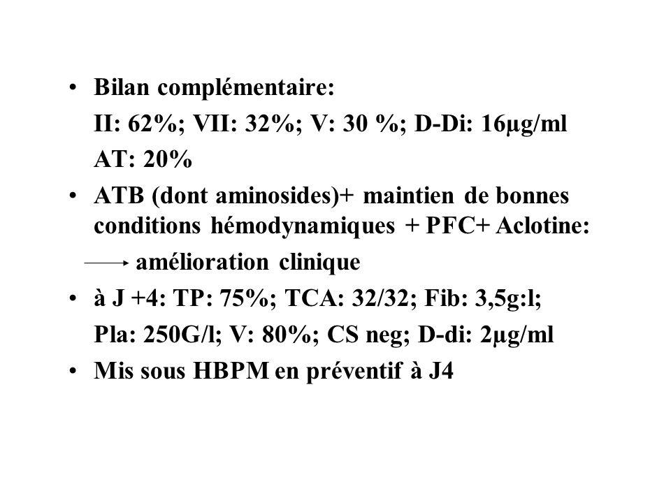 Bilan complémentaire: