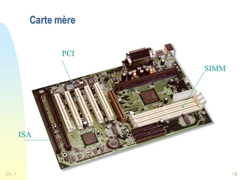 Carte mère PCI SIMM ISA Ch. 1