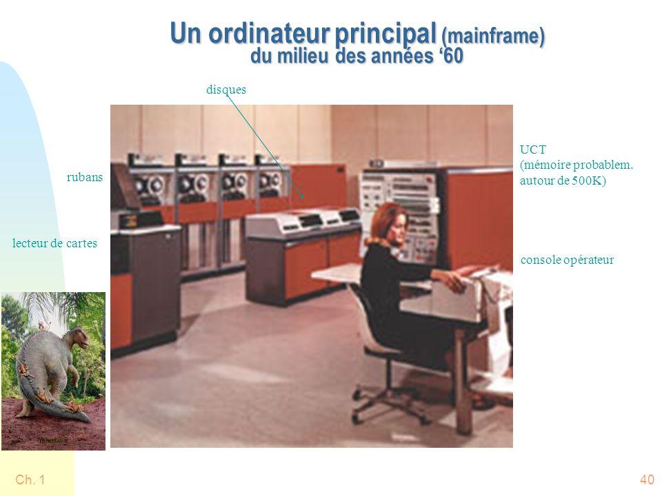 Un ordinateur principal (mainframe) du milieu des années '60