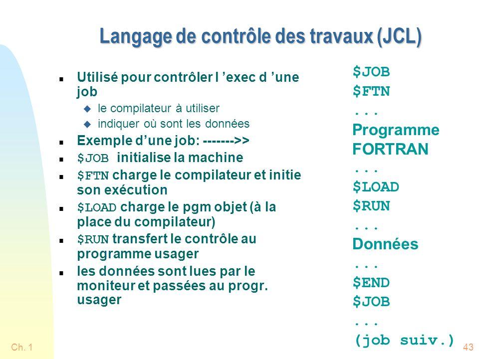 Langage de contrôle des travaux (JCL)