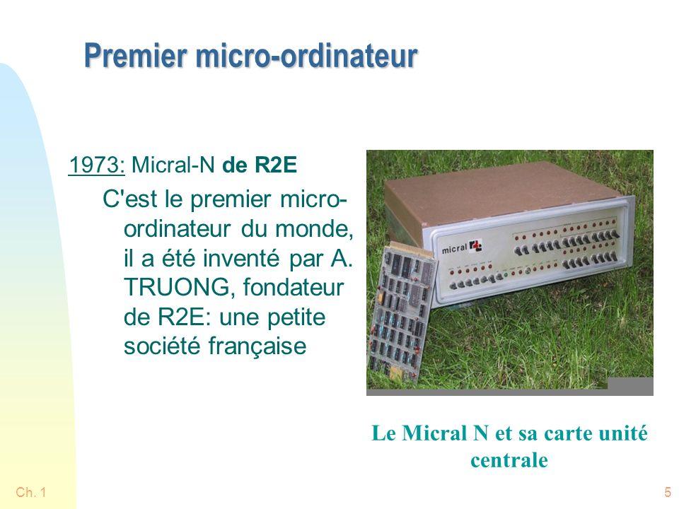 Premier micro-ordinateur