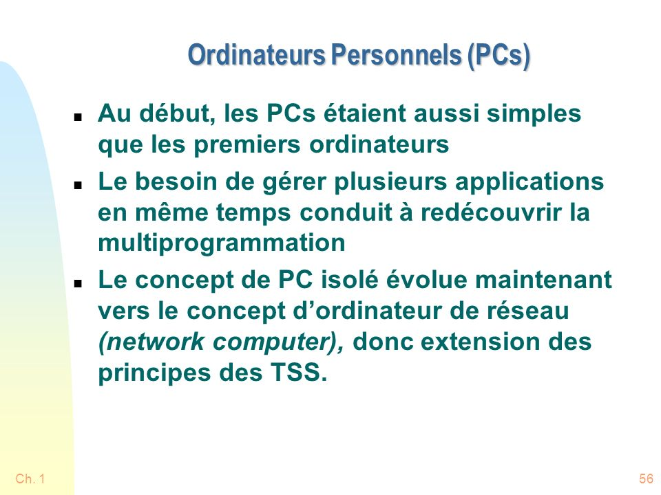 Ordinateurs Personnels (PCs)