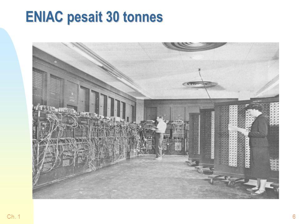 ENIAC pesait 30 tonnes Ch. 1