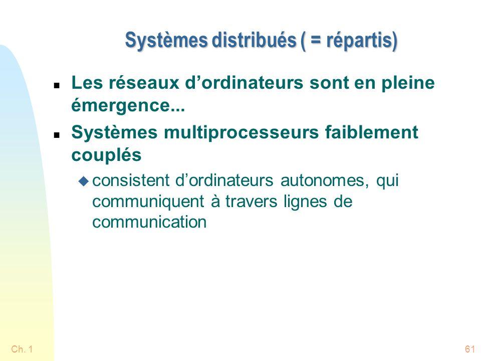 Systèmes distribués ( = répartis)
