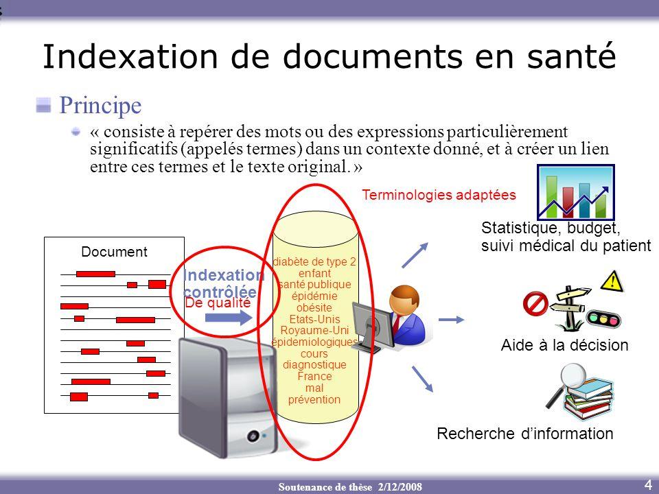 Indexation de documents en santé