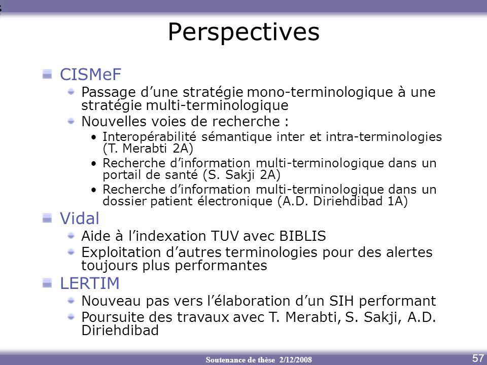 Perspectives CISMeF Vidal LERTIM