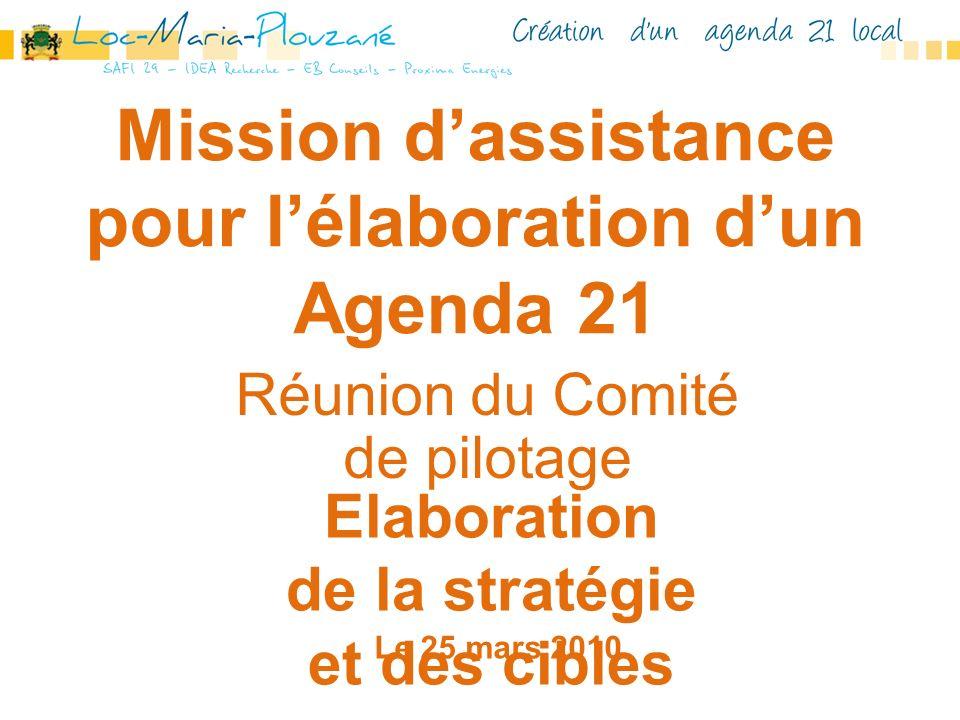 Mission d'assistance pour l'élaboration d'un Agenda 21