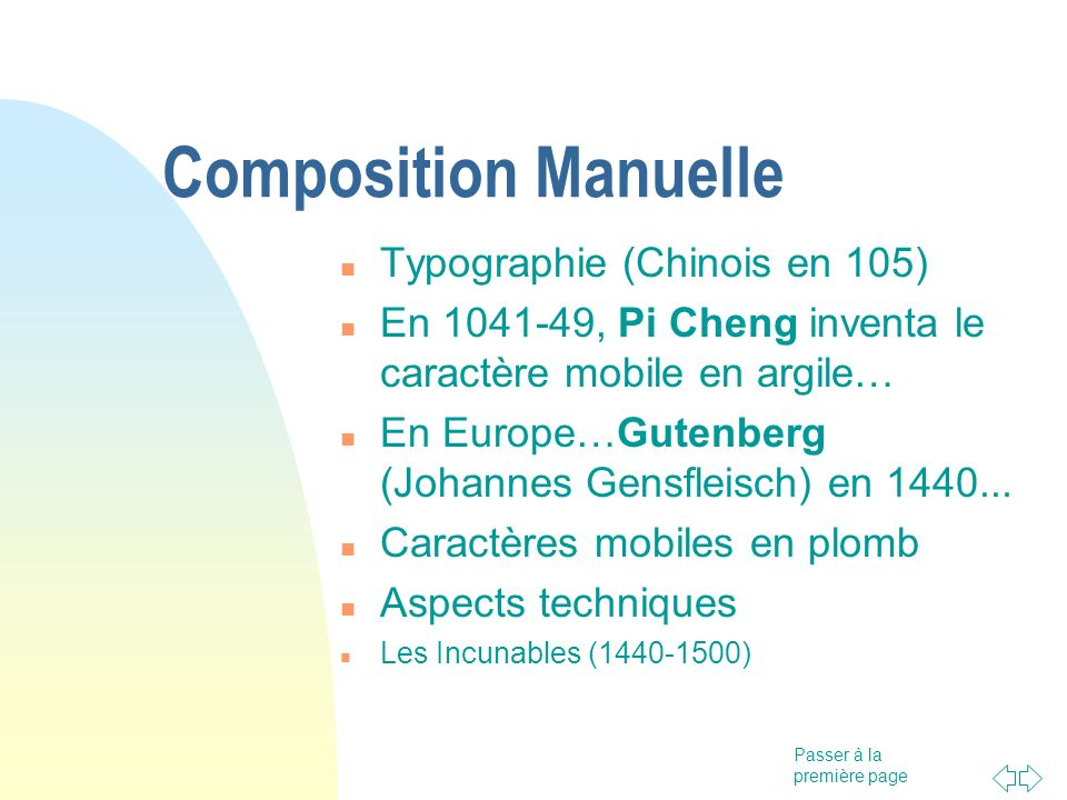Composition Manuelle Typographie (Chinois en 105)