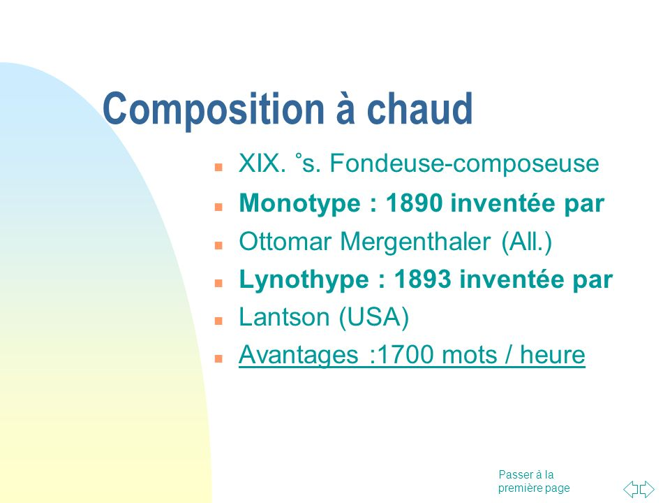 Composition à chaud XIX. °s. Fondeuse-composeuse