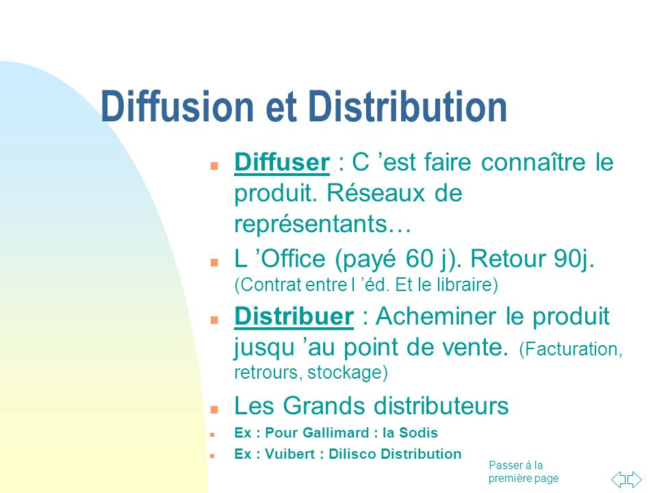 Diffusion et Distribution